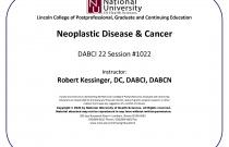 Neoplastic Disease & Cancer [DABCI 22] #1022