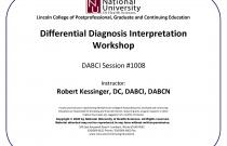 Differential Diagnosis Interpretation Workshop [DABCI #1008]