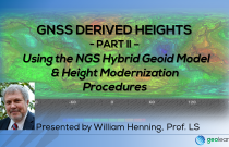 GNSS Derived Heights 2 – Using the NGS Hybrid Geoid Model & Height Modernization Procedures