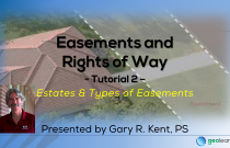 Easements and Rights of Way 2 – Estates & Types of Easements