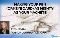 Writing: Making Your Pen (or Keyboard) as Mighty as Your Machete